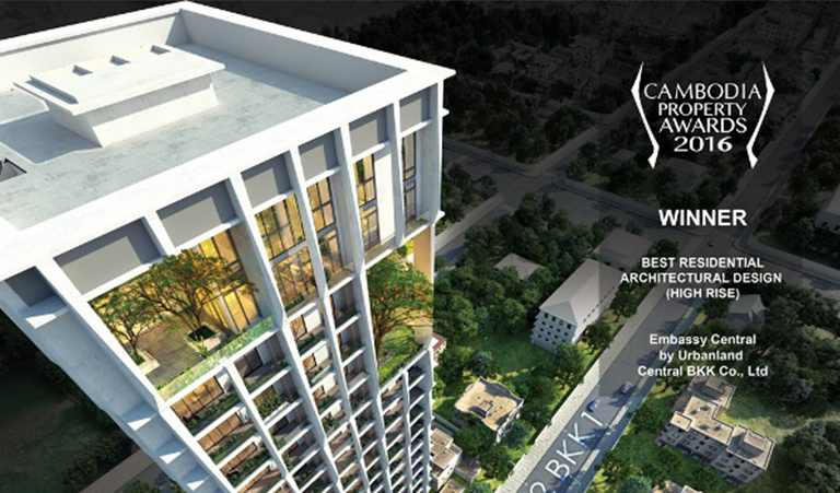 Urbanland - Embassy Central - Phnom Penh Luxury Condominium - Best residential architectural design