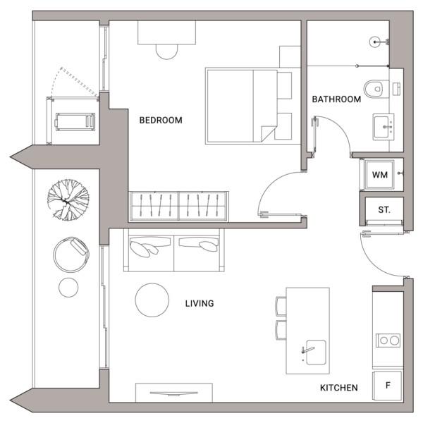 Urbanland - Embassy Central - Phnom Penh Luxury Condominium - A1 Unit floor plan