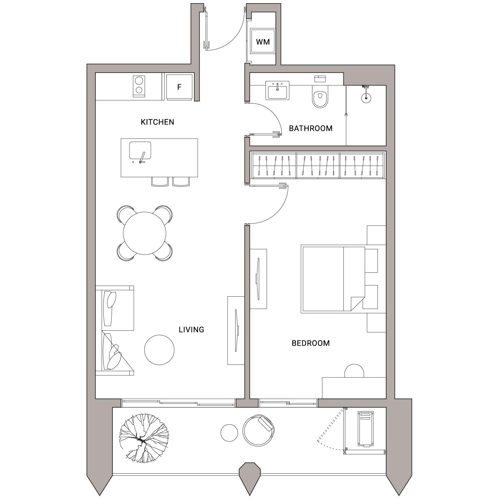 Urbanland - Embassy Central - Phnom Penh Luxury Condominium - A3 Unit floor plan