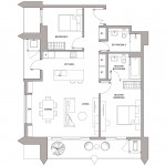 Urbanland - Embassy Central - Phnom Penh Luxury Condominium - B1 Unit floor plan